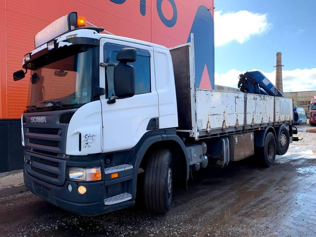Scania P310 Manual + HMF 1820, Boom / Crane / Bucket Trucks, Trucks and Trailers