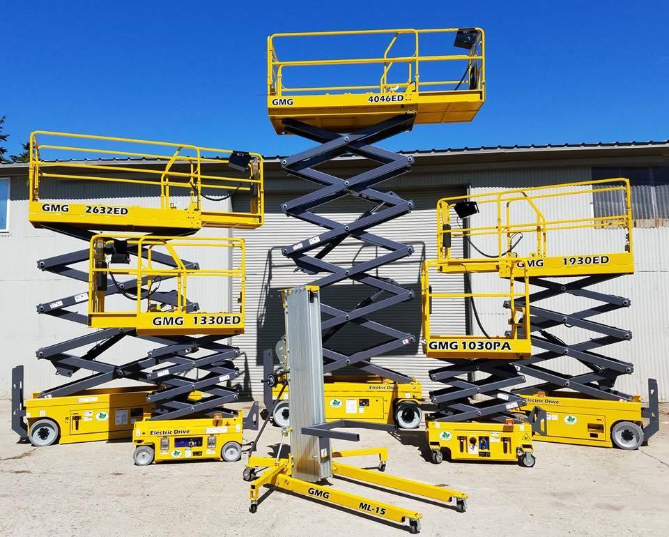 [Other] GMG elektriske sakselifter 6 - 15,9 m arb. høyde, Sakselifter, Anlegg