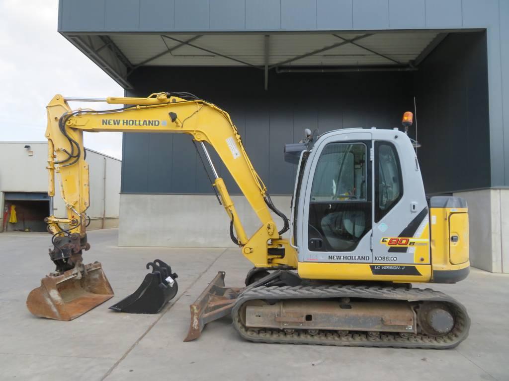 New Holland E 80 B M SR-2, Midigraafmachines 7t - 12t, Bouw