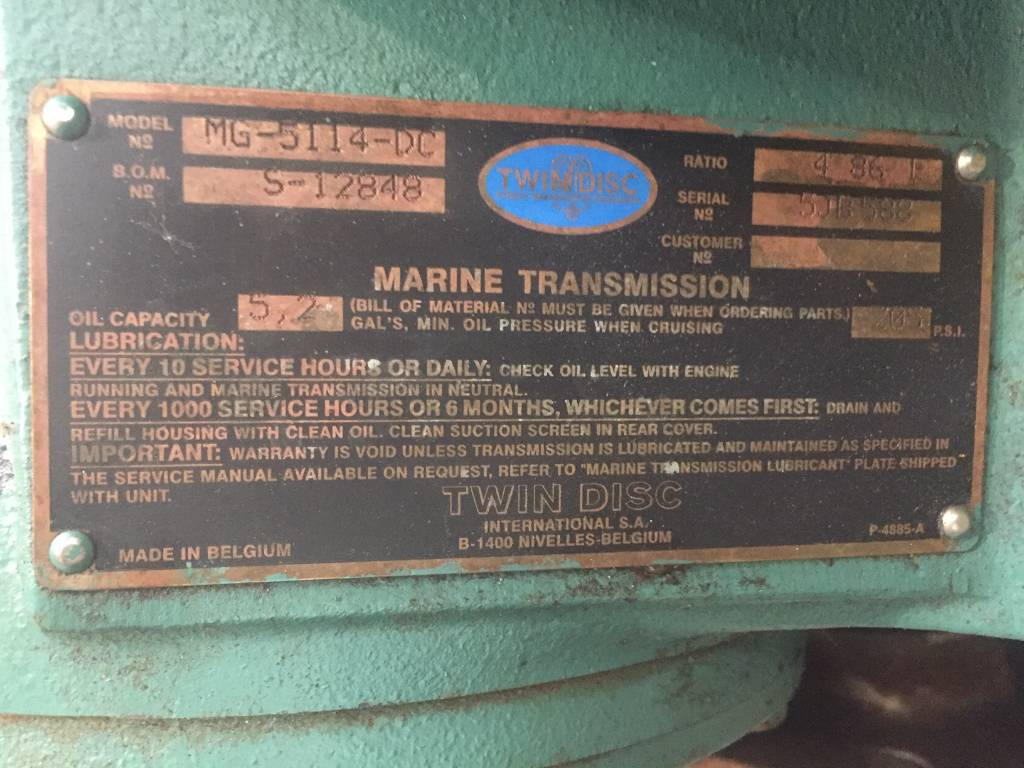 Twin Disc MG5114-DC - 4.86:1 - DPH 106010, Transmissions, Construction