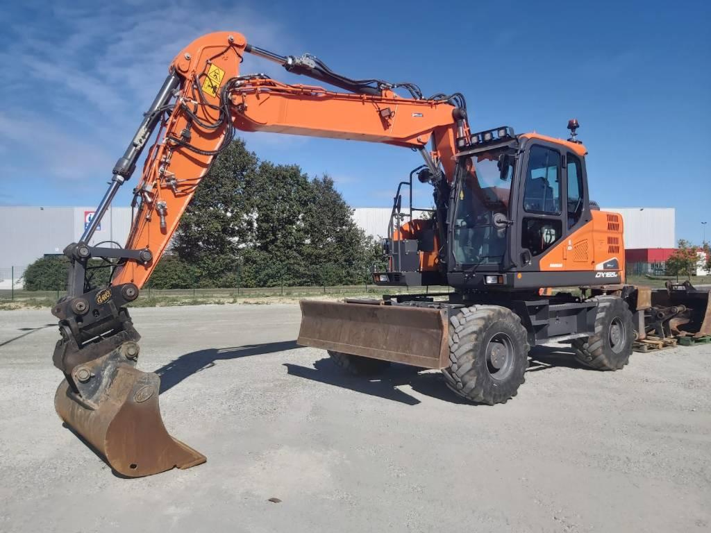 Doosan DX165W-5, Wheeled Excavators, Construction Equipment