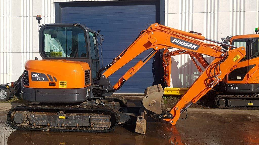 Doosan DX63-3, Crawler excavators, Construction