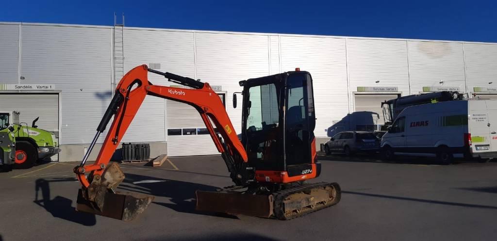 Kubota U 27-4, Mini excavators < 7t (Mini diggers), Construction