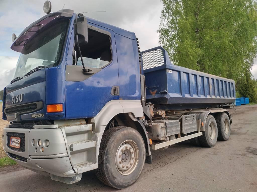Sisu E11 6x4 multilift vaijerilaite, Vaihtolava-autot, Kuljetuskalusto