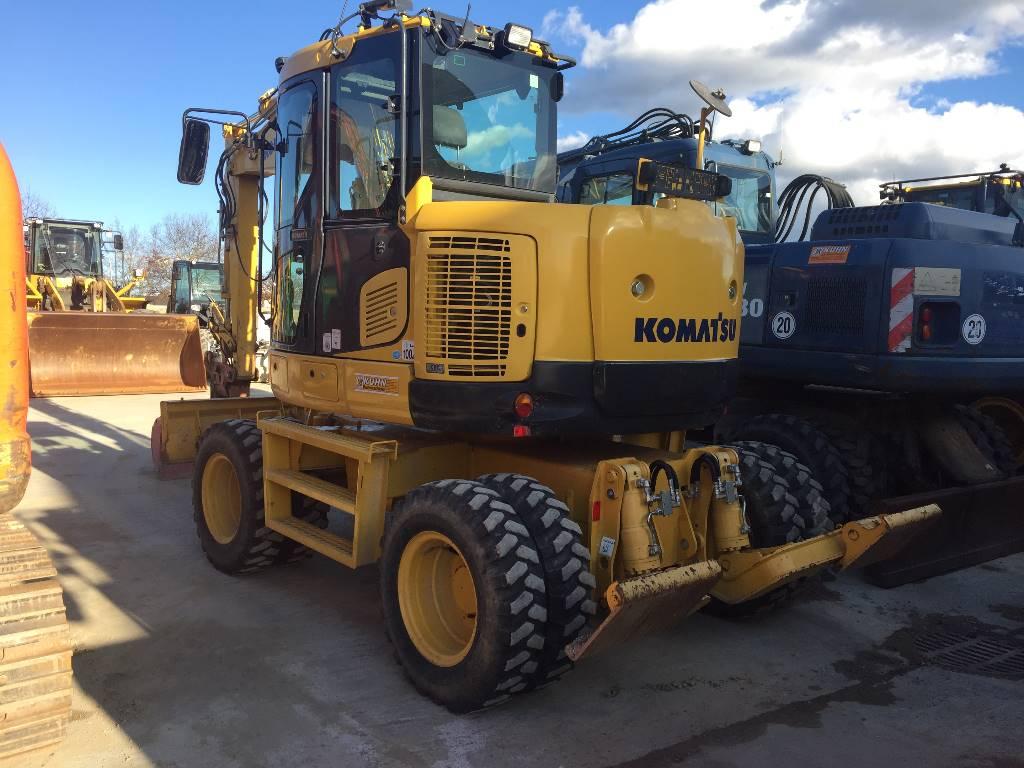 Komatsu PW118MR-8, Wheeled Excavators, Construction Equipment