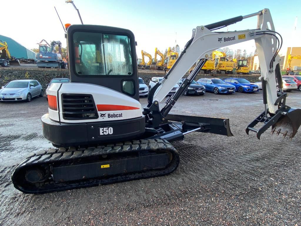 Bobcat E50, Mini excavators, Construction Equipment