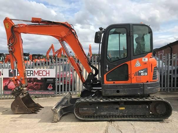 Doosan DX 63-3, Crawler Excavators, Construction Equipment