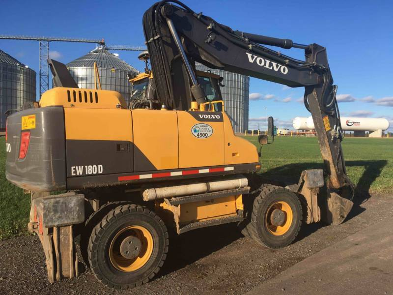Volvo EW 180, Wheeled Excavators, Construction Equipment