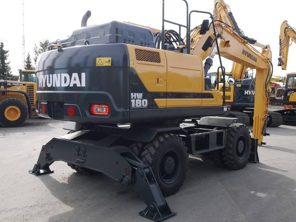 Hyundai HW 180, Pyöräkaivukoneet, Maarakennus