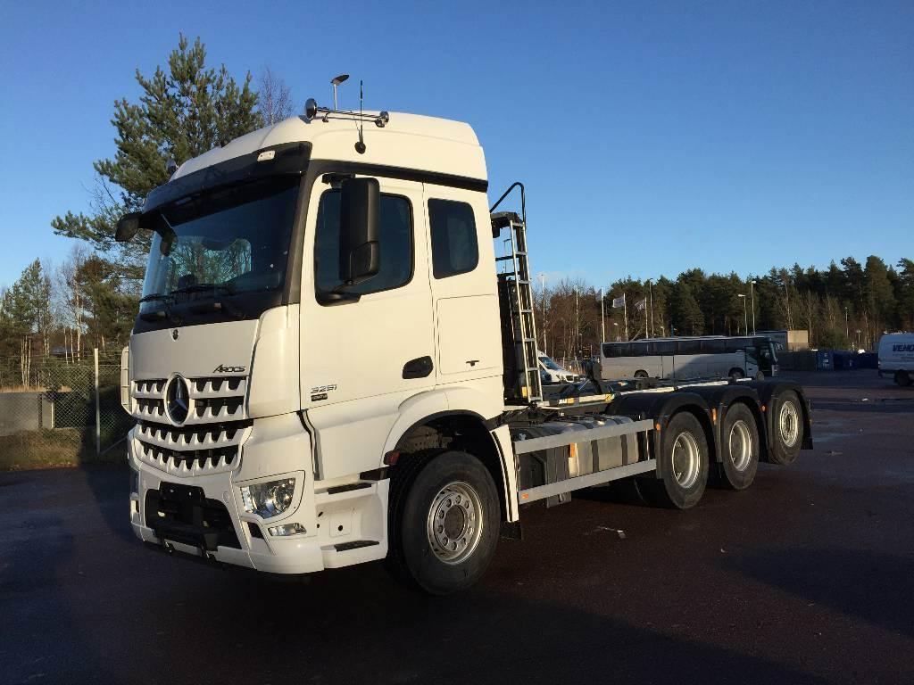 Mercedes-Benz Arocs 3253 8x4 Lastväxlare JOAB L24, Lastväxlare/Krokbilar, Transportfordon