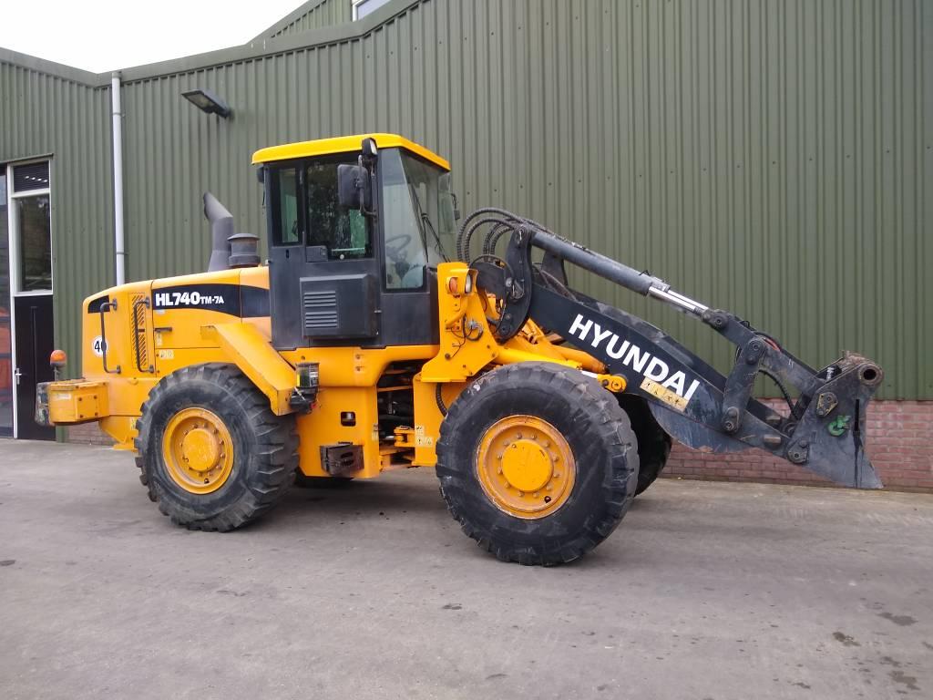 Hyundai HL 740 TM-7 A, Wielladers, Grondverzet en bouwmachines