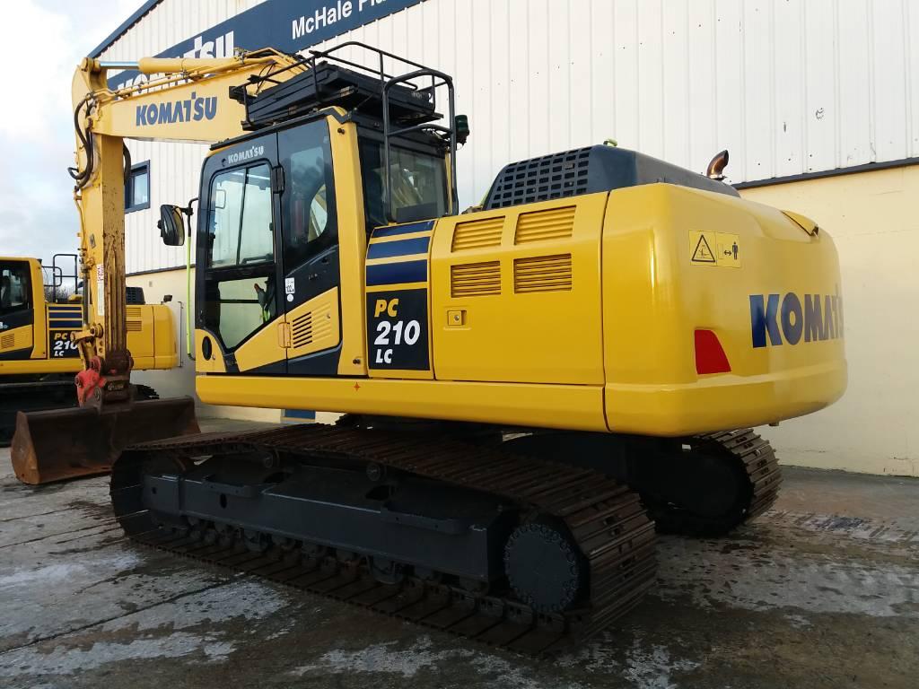 Komatsu PC210LC-10, Crawler Excavators, Construction Equipment