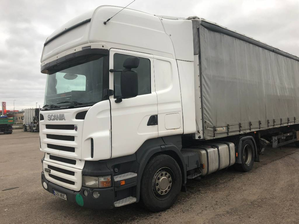 Scania R 420 LA+trailer Schmitz, Sadulveokid, Transport