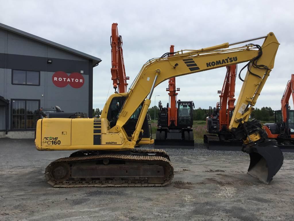 Komatsu PC 160-6K, Crawler excavators, Construction