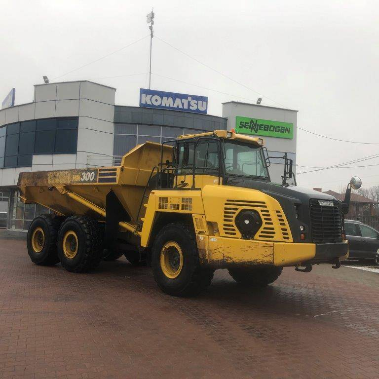 Komatsu HM300-5, Articulated dump trucks, Construction
