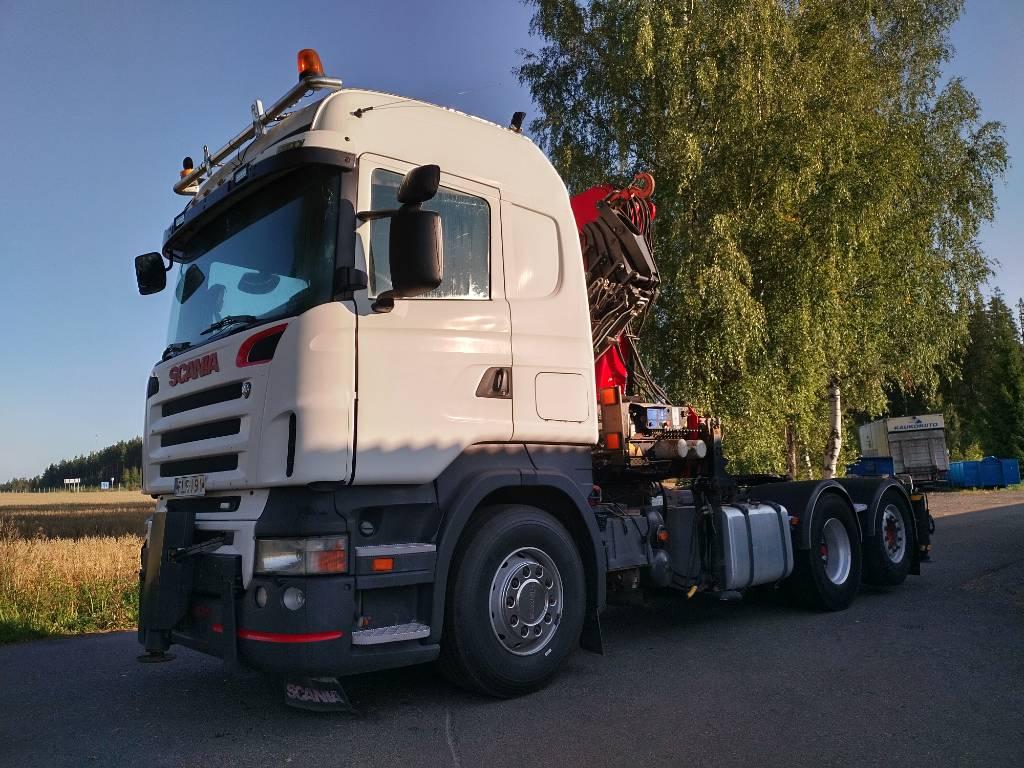 Scania R420 6x2 veturi, HMF3720 nosturi+jibi, Vetopöytäautot, Kuljetuskalusto
