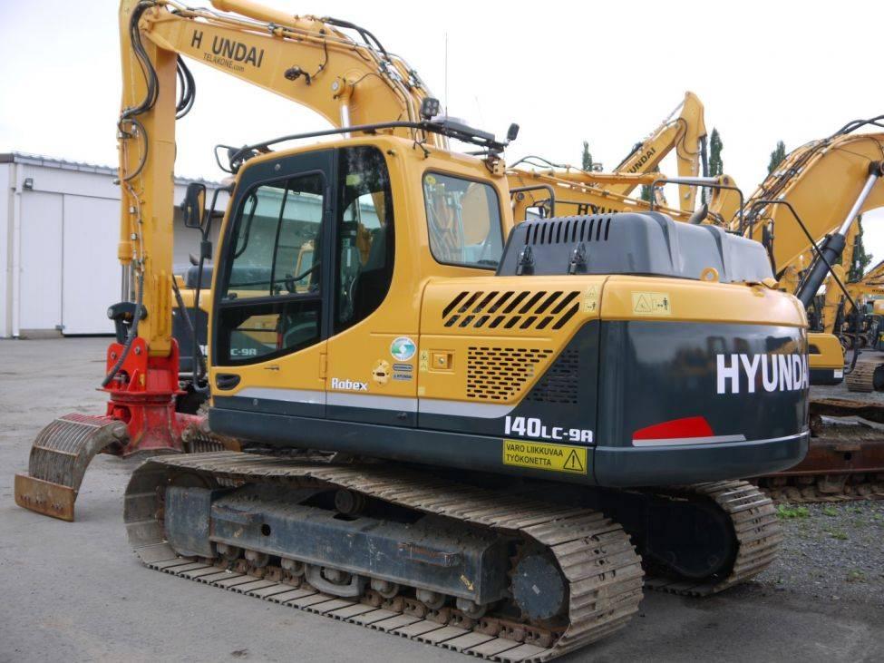Hyundai R 140 LC-9A lajittelukouralla, Telakaivukoneet, Maarakennus