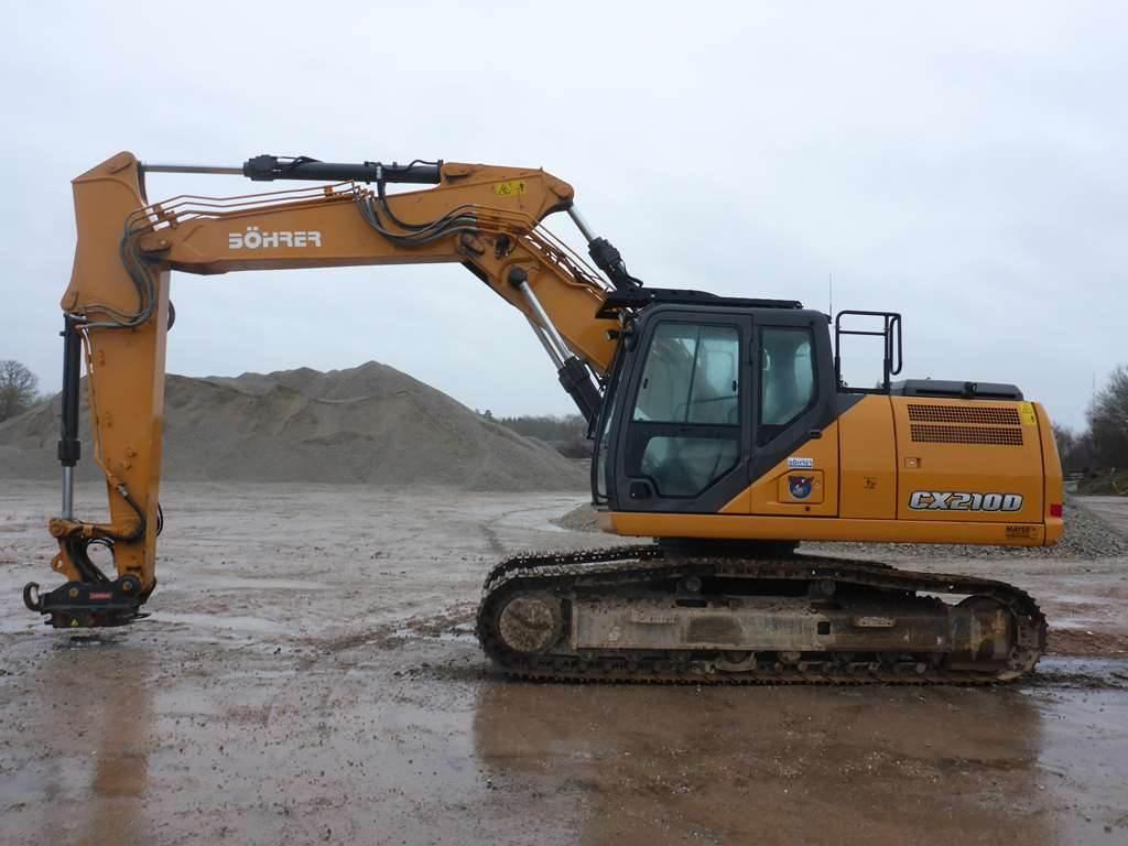 CASE CX 210D, Crawler Excavators, Construction