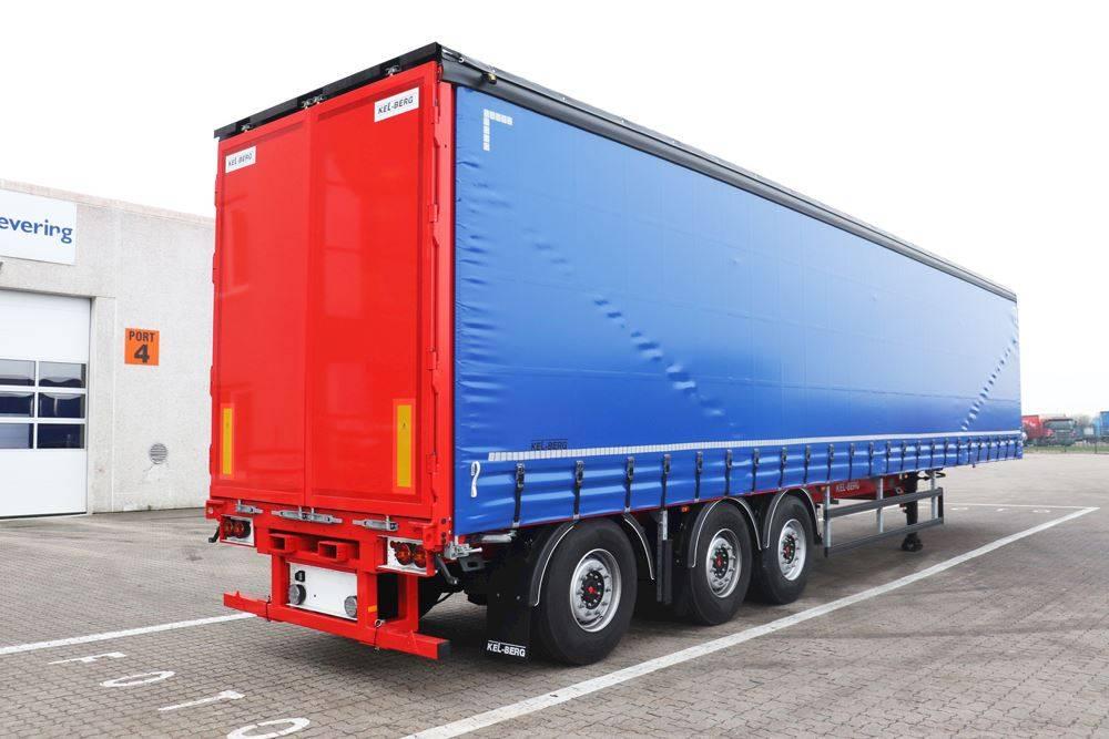 Kel-Berg D100V Gardintrailer m Konsoll for truck, Kapell trailer/semi, Transport