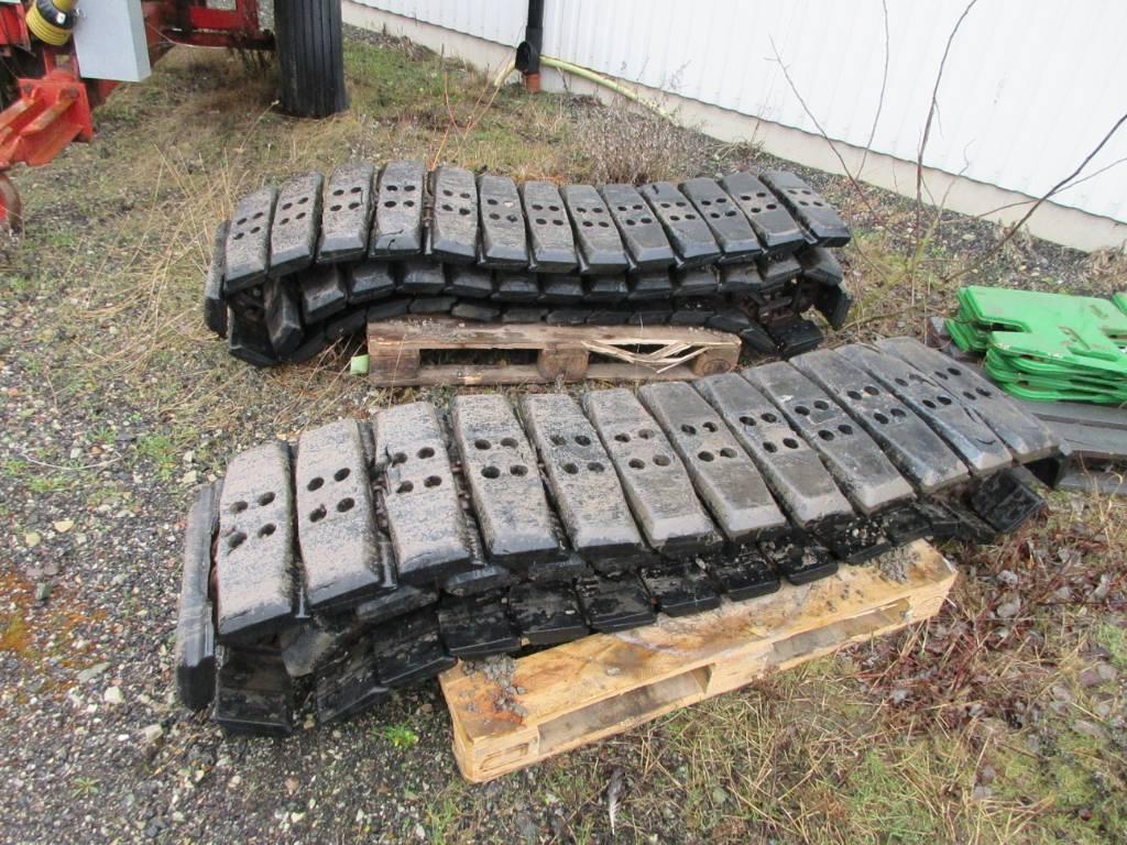 [Other] Stålplattor med pads till 8 tons grävmaskin, Band, kedjor och underreden, Entreprenad