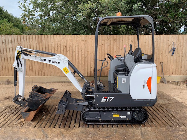 Bobcat E 17, Mini excavators < 7t (Mini diggers), Construction