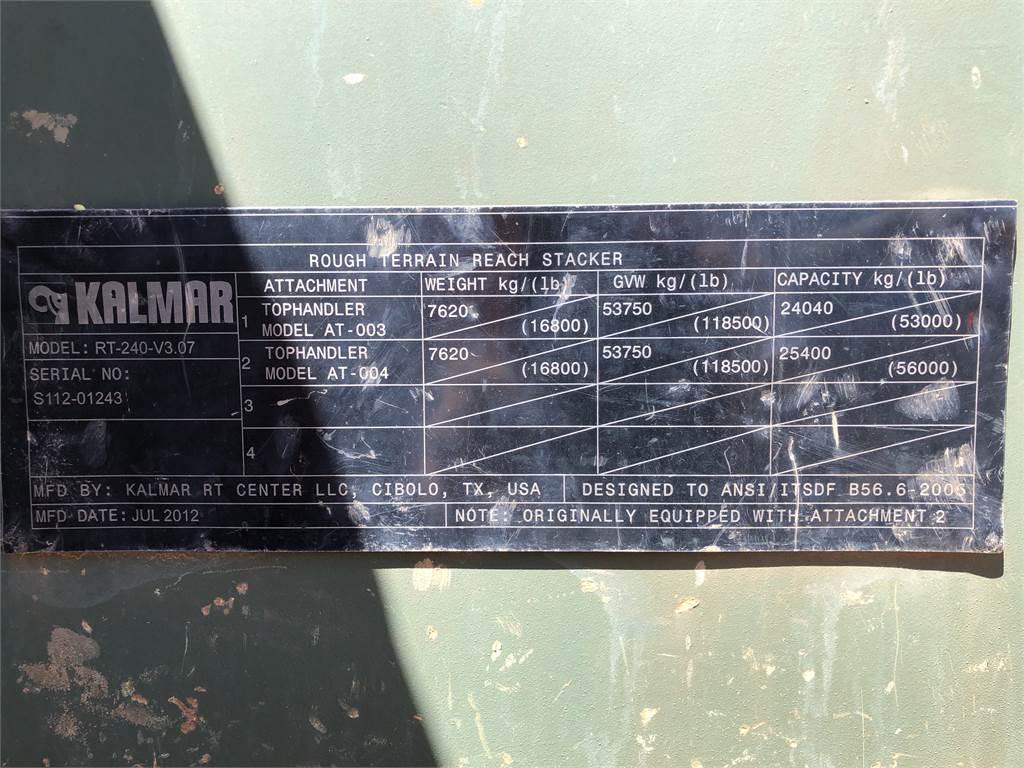 Kalmar RT 240 V3, Reachstackers, Material Handling