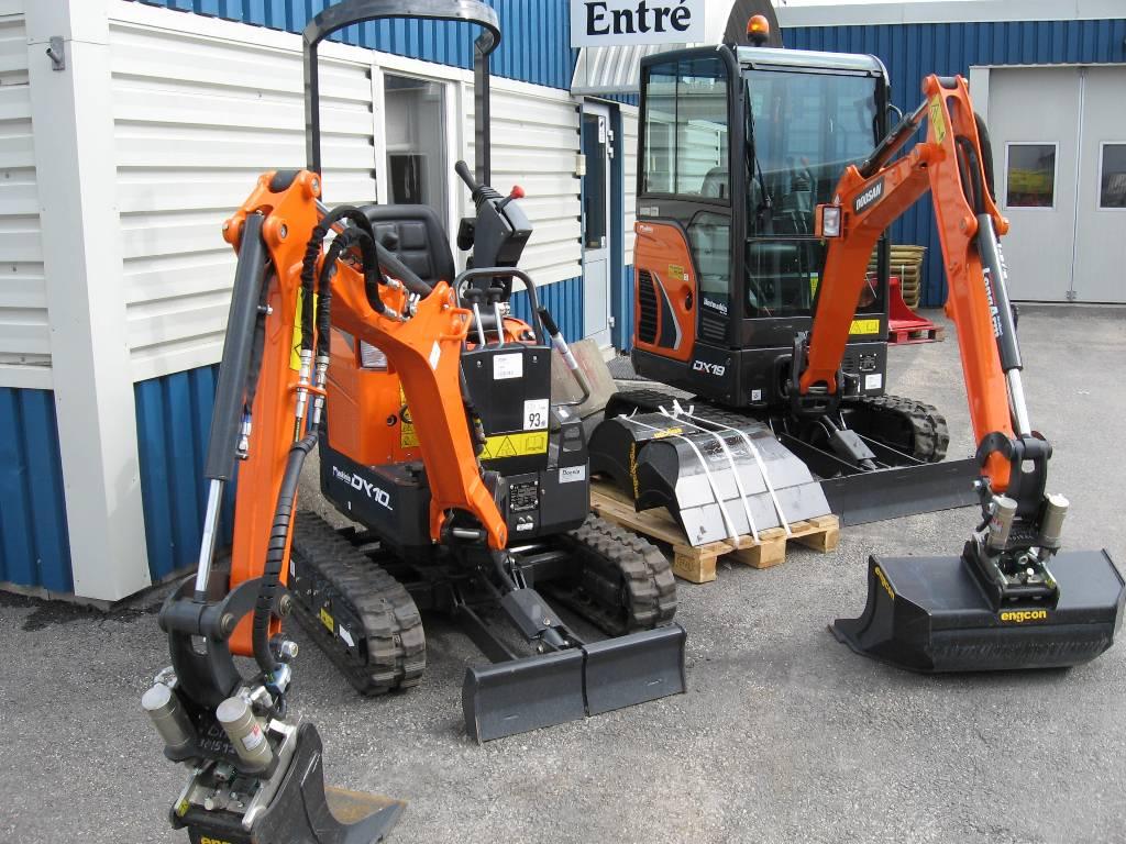 Doosan grävmaskiner, Minigrävare < 7t, Entreprenad