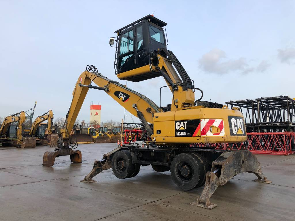 Caterpillar M 318 D MH (incl CAT G315B Grab), Wheeled excavators, Construction