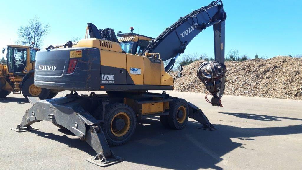 Volvo EW210MH, Wheeled Excavators, Construction Equipment