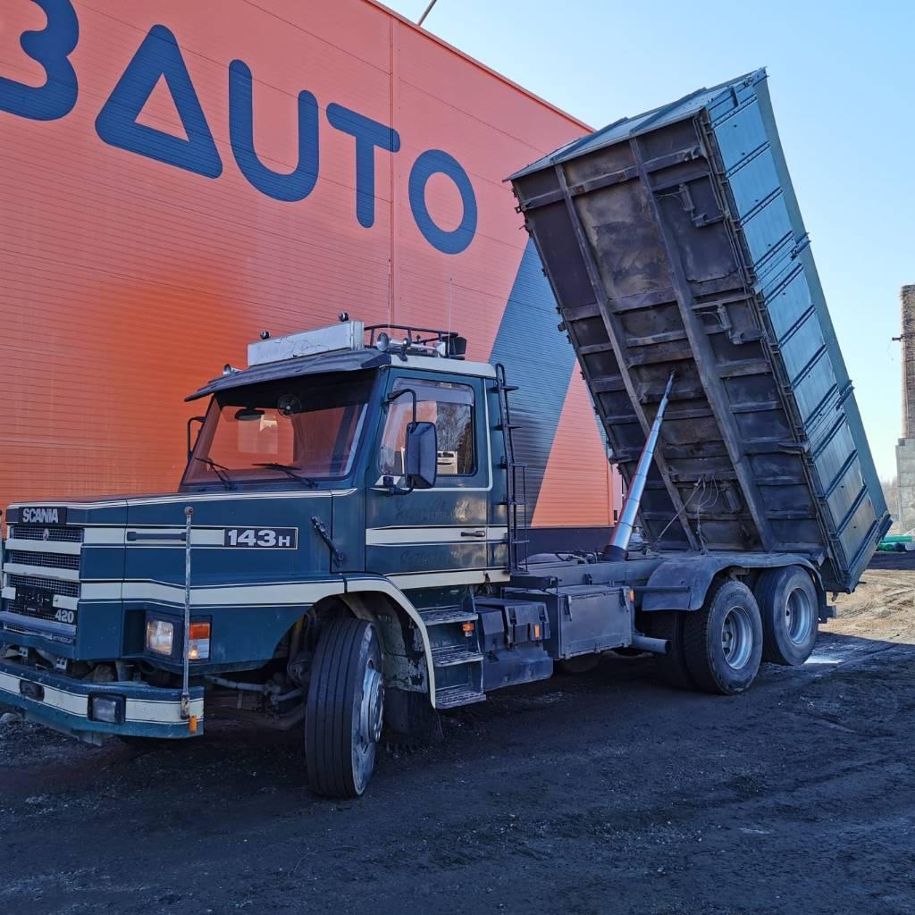 Scania T 143 6x2 Parabol, Dump Trucks, Trucks and Trailers