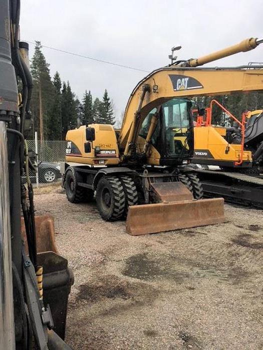 Caterpillar M313C, Wheeled Excavators, Construction Equipment