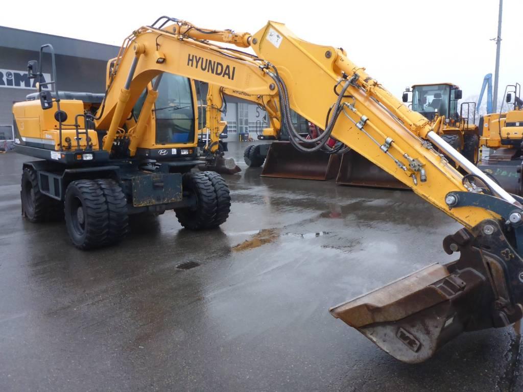 Hyundai Robex 140W-9, Wheeled Excavators, Construction Equipment