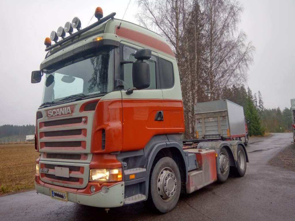 Scania R420 väliteli,hydrauliikka,paperikiekko, Vetopöytäautot, Kuljetuskalusto