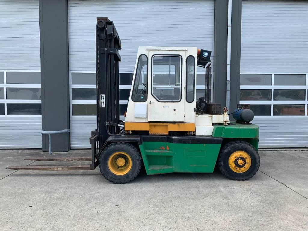 Kalmar 7 ton LPG /GAS heftruck Kalmar GB 7-600 forklift, LPG heftrucks, Laden en lossen