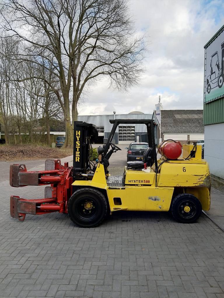 Hyster H5.00XL Heftruck met roterende balenklem, LPG heftrucks, Laden en lossen