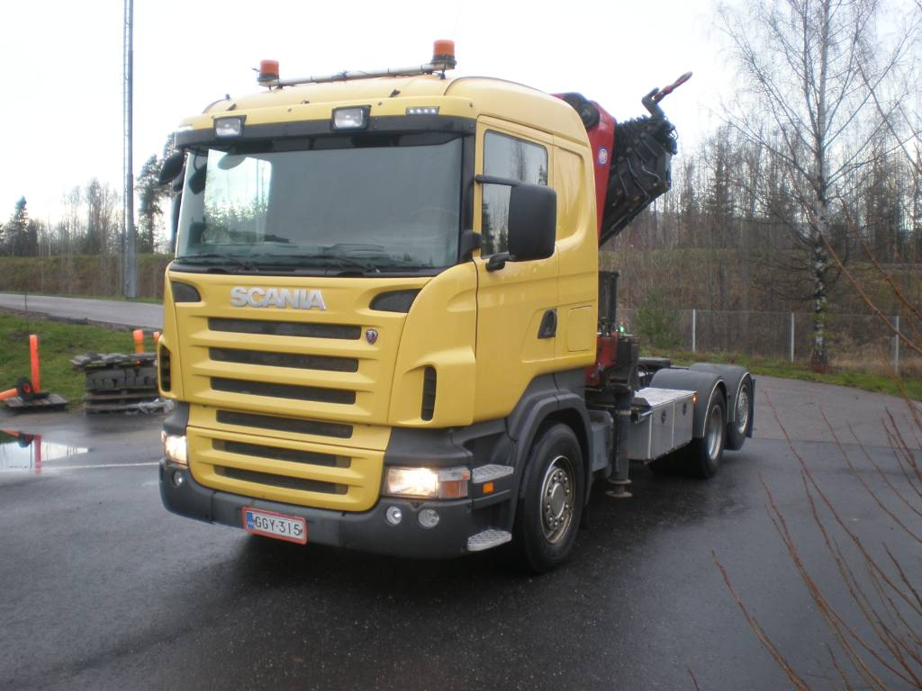 Scania R420 + HMF 5020 8+1 2014, Boom / Crane / Bucket Trucks, Trucks and Trailers