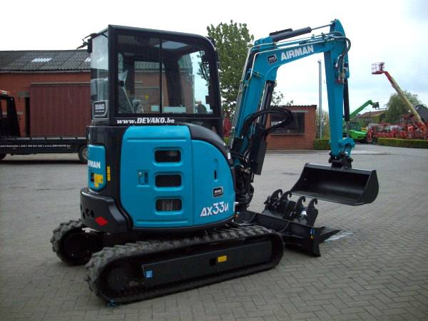 Airman AX33U-6A (Full-Option), Minigraafmachines < 7t, Bouw