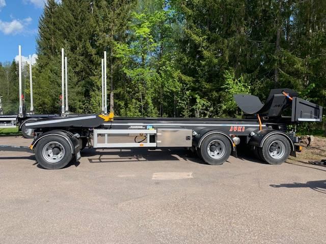 Jyki lastväxlarvagn med tipp, Lastväxlarsläp, Transportfordon