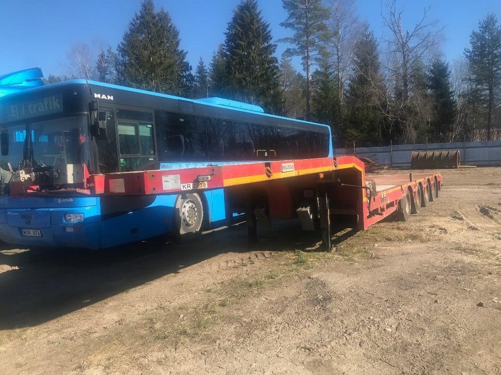 Demarko 4-axlad trailer, Flaktrailer, Transportfordon