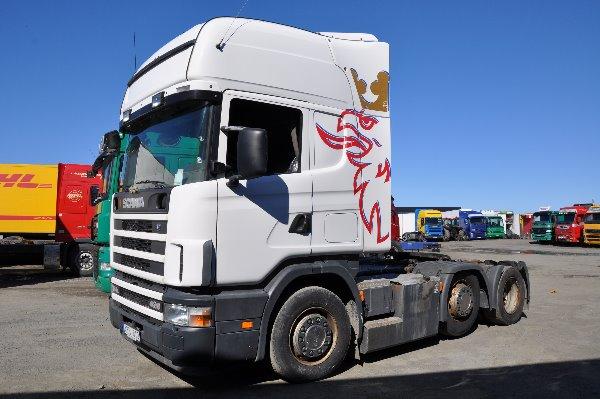 Scania 124 6X2 420, Dragbilar, Transportfordon