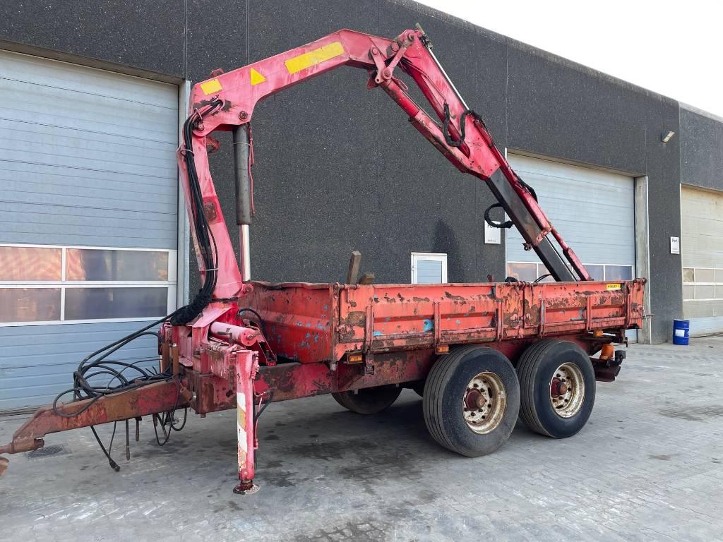 Palfinger Vogn m. kran / trailer with crane, Andre vogne, Landbrug