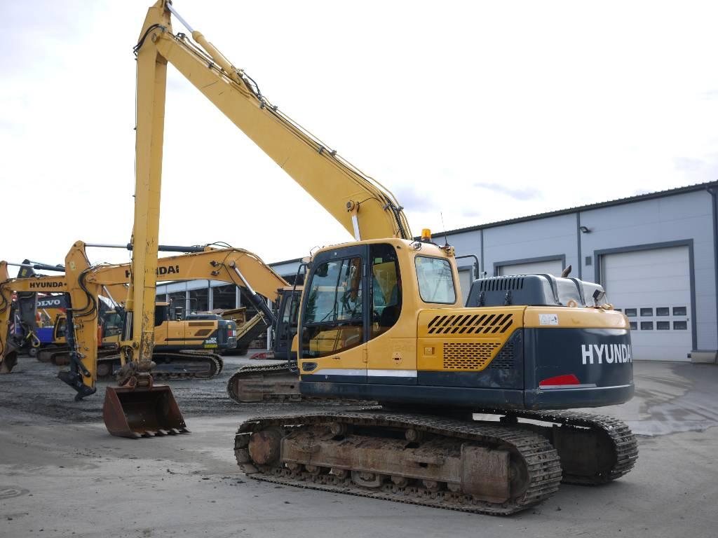 Hyundai R 180 LC-9A pitkäpuomi, Telakaivukoneet, Maarakennus