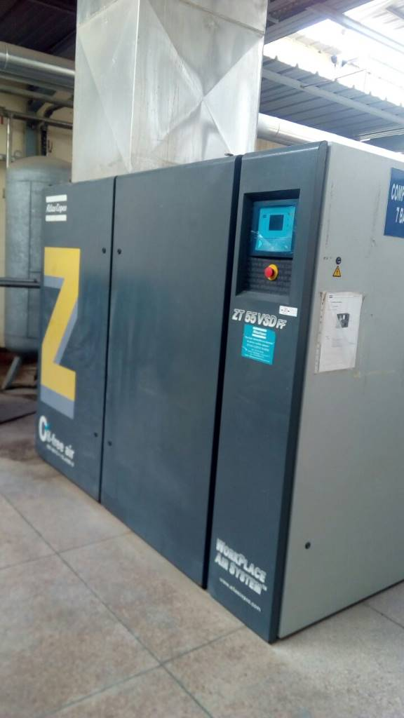 Atlas Copco ZT 55 VSD FF ( IMD ), Compressors, Industrial