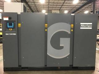 Atlas Copco GA 110VSD, Compressors, Industrial
