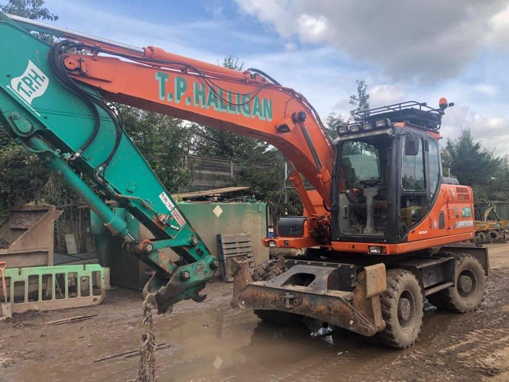 Doosan DX 170 W, Wheeled Excavators, Construction Equipment