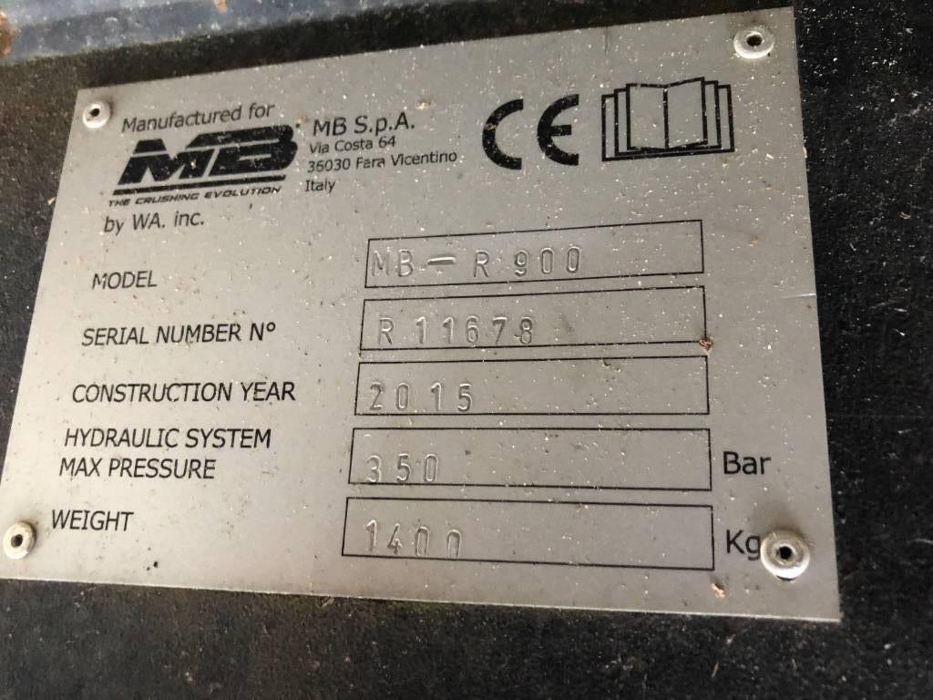 MB Crusher R900 Fräs, Rivare, Entreprenad