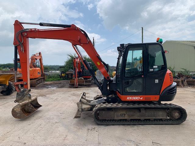 Kubota KX 080-4, Midi excavators  7t - 12t, Construction