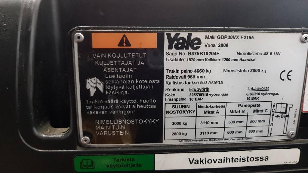 Yale GDP30VX Vuokralla, Dieseltrukit, Materiaalinkäsittely