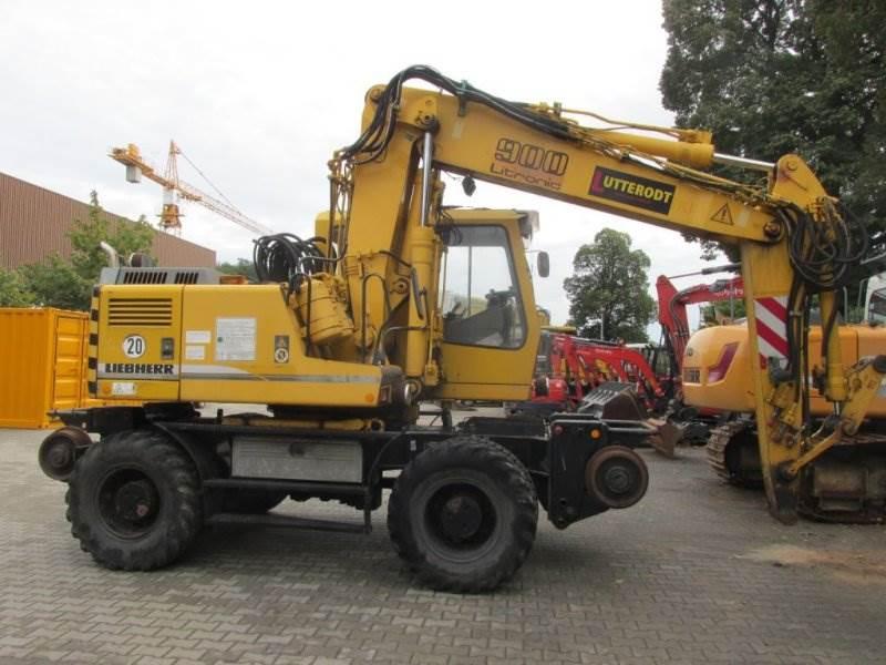 Liebherr A900 ZW, Mobilbagger, Baumaschinen