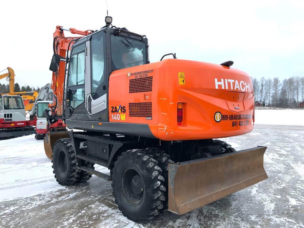 Hitachi ZX 140 W-3, Pyöräkaivukoneet, Maarakennus